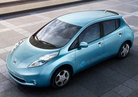 2011 Nissan Leaf, Front-quarter view from above, manufacturer, exterior