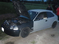 Picture of 1996 Honda Civic DX Hatchback, exterior, engine