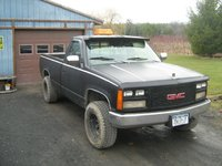 1993 GMC Sierra C/K 1500, Headlamps were swapped out for glass ones out of an 88' K5 Blazer and the grill was switched to a repainted GMC grill, exterior