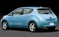 2011 Nissan Leaf, Back Left Quarter View, exterior, manufacturer