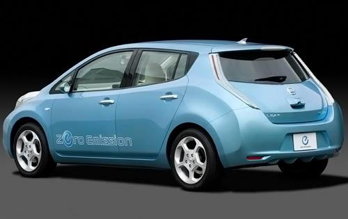 2011 Nissan Leaf, Back Left Quarter View, manufacturer, exterior