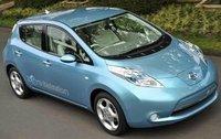 2011 Nissan Leaf, Overhead View, exterior, manufacturer
