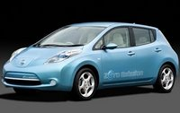 2011 Nissan Leaf, Front Left Quarter View, manufacturer, exterior