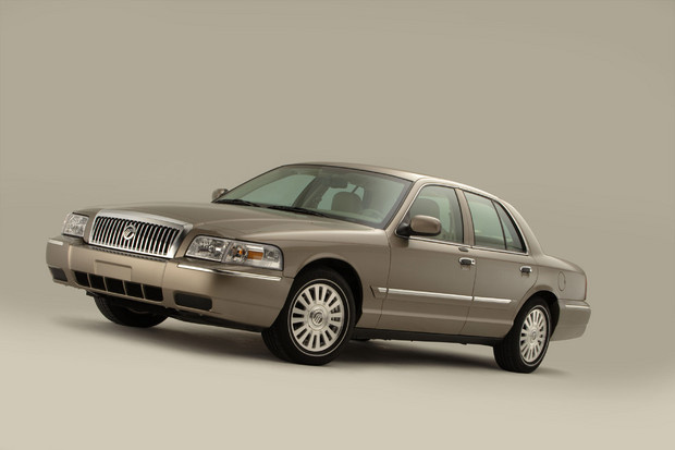 2011 Mercury Grand Marquis, Front Left Quarter View, exterior, manufacturer