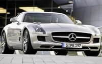 2011 Mercedes-Benz SLS-Class, Front Right Quarter View, manufacturer, exterior