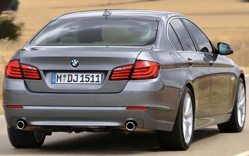 2011 BMW 5 Series, Back View, exterior, manufacturer