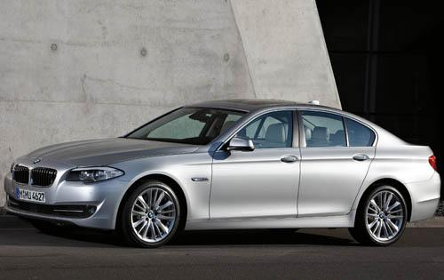 2011 BMW 5 Series, Left Side View, manufacturer, exterior