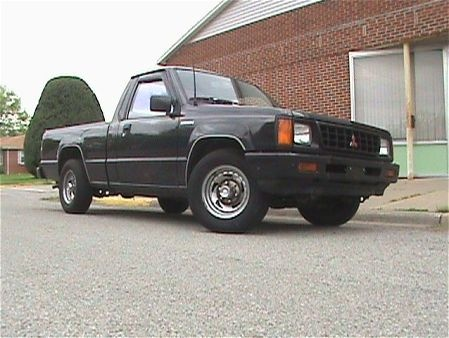 1993 Mitsubishi Mighty Max Pickup 2 Dr STD Standard Cab SB, not my truck, but this is the same body style. mine was green., exterior
