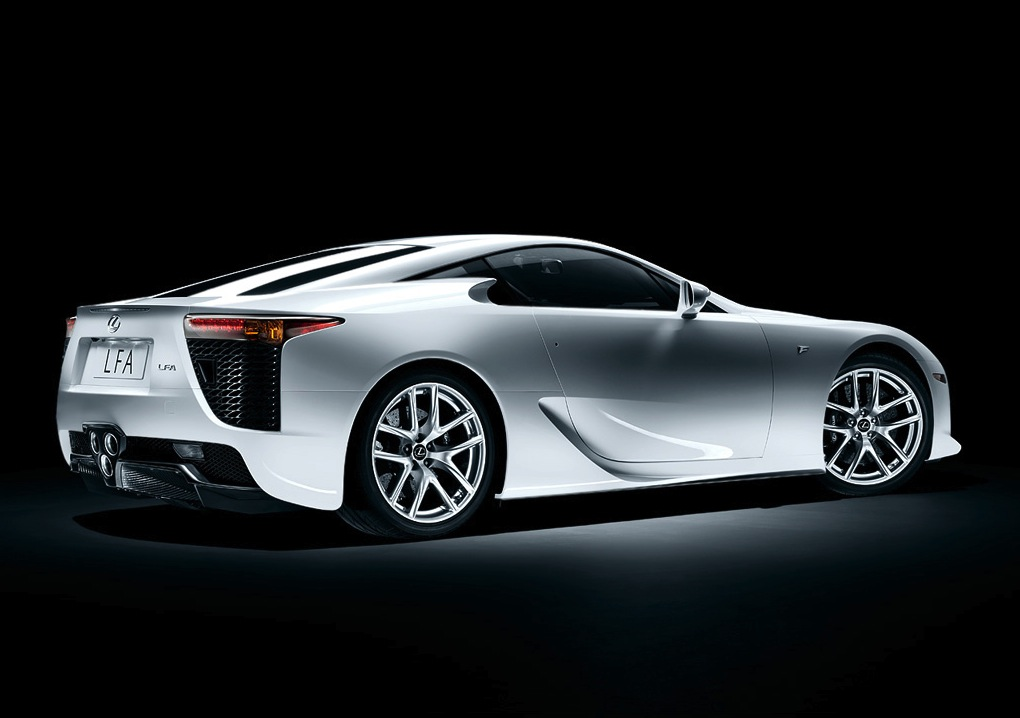 2011 Lexus LFA, Back Right Quarter View, manufacturer, exterior