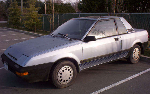 1983 Nissan Pulsar, basic tiny jap runabout 50+ mpg with non-turbo, exterior