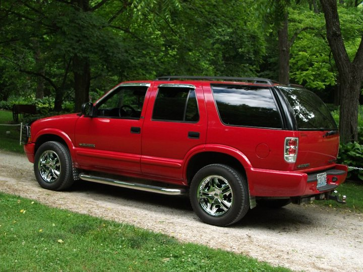 2002 Chevrolet Blazer 4 Dr LS SUV Left Side Back, exterior