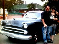 1953 Dodge Coronet, me n drew (hubby) with our 53 dodge, exterior, gallery_worthy