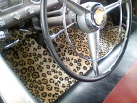 1953 Dodge Coronet, Leopard print carpet that i put in my 53 dodge, interior, gallery_worthy