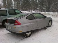 2003 Honda Insight 2 Dr STD Hatchback, The Insight at a rest stop on Donner summit., exterior