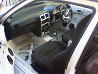 1995 Suzuki Swift 2 Dr STD Hatchback, interior white and black flooting floors kenwood headset 2 amps 4 x 15inch subs 4 x 6inch speakers  2 x 6x9inch speakers racing seats with harnes , interior