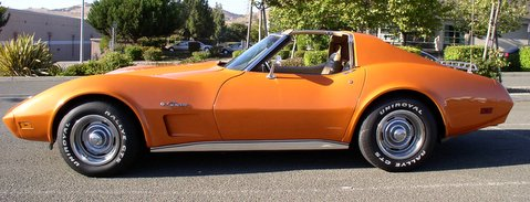 1974 Chevrolet Corvette, 1974 Corvette Orange