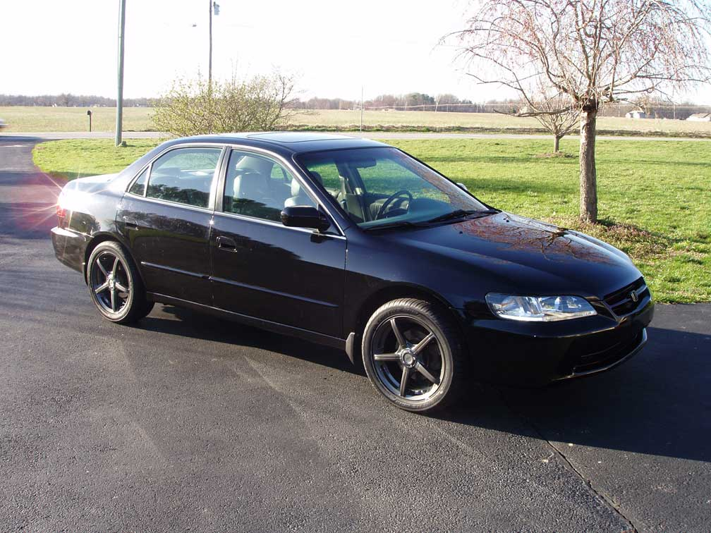 1998 Honda Accord EX V6, 1998 Accord 4dr EX leather. V6. Automatic. 17 wheels & tires. Aftermarket taillights and headlights. 166,000 miles on it.