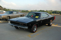 Black 1968 Dodge Charger R/T, exterior