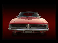 My 1969 Dodge Charger R/T SE front view in photoshop, gallery_worthy