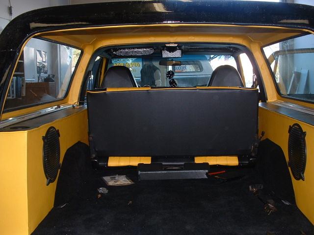 """1977 Chevrolet Blazer, Custom Speakers Boxes 2 - 10""""  .... 2 - 6"""" x 9"""" ....4 - 2"""" Speakers in Custom Headliner, gallery_worthy"""