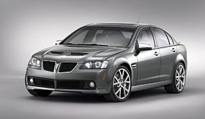 A shot of the Pontiac G8, unveiled at the '07 Chicago Auto Show