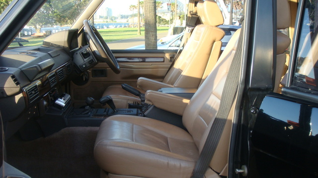 1991 Land Rover Range Rover 4WD, Interior View - 1991 Range Rover CSK in Beluga Black (3.9 Injected Petrol, Auto). This was the last year a range rover was offered with Coil Spring Suspension as stand...
