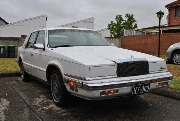 1989 Chrysler New Yorker, The Chrysler, new plates., exterior