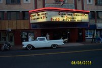 1957 Ford Ranchero, This is the Oriental theatre on W44th Ave in Denver in 2006; for a while they hosted rockabilly bands on Tuesday nights; on several nights, there would be 10 vintage rides parked i...