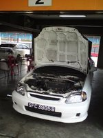 Picture of 2000 Honda Civic, exterior, engine