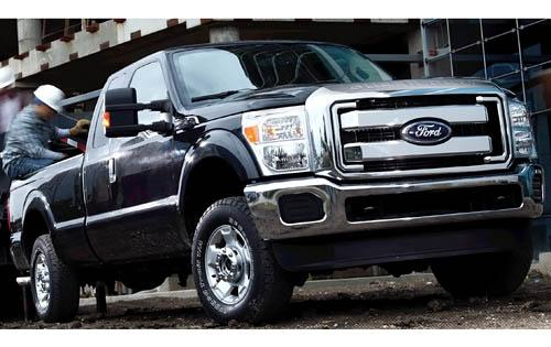 2011 Ford F-250 Super Duty, Front Right Quarter View, manufacturer, exterior