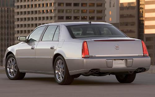 2011 Cadillac DTS, Back Left Quarter View, manufacturer, exterior