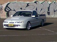 1997 Holden Commodore, just an awsum parking lot for a random pic does justice for my ute! Gotta love my old Plates for it!, exterior, gallery_worthy