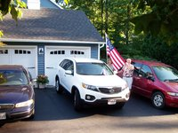 2011 Kia Sorento EX, Red White and Blue cars on 4th of July, exterior