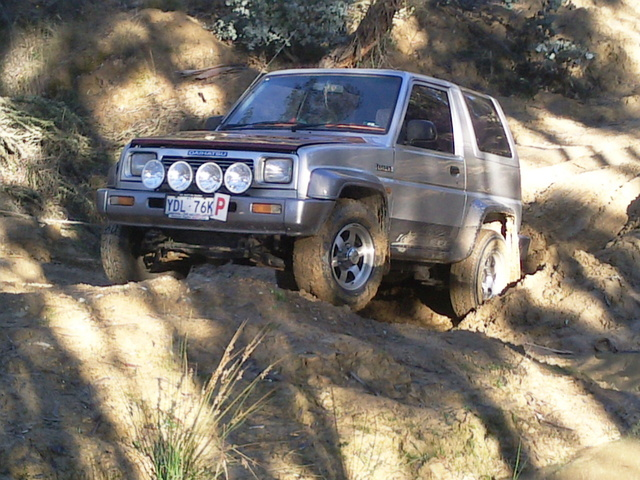 1992 Daihatsu Feroza, bogged in brindabellas, first time ever, exterior