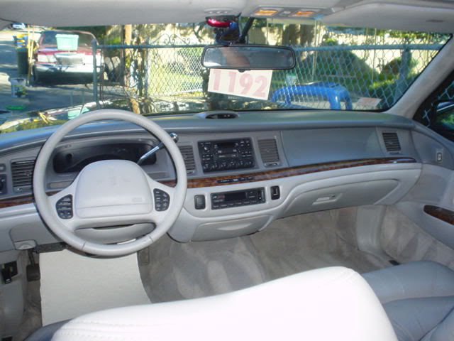 Lincoln Town Car Interior. 1996 Lincoln Town Car 4 Dr