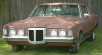 1970 Pontiac Grand Prix, California car, originally Atoll Blue/dark blue bucket interior, PW, TW, AC, PS, remote driver mirror, front cornering lamps, 400/350hp, chrome door edge guards, original body...