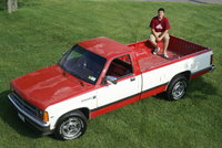 1987 Dodge Dakota, *The hood and roof's clear coat is faded, there is no rust