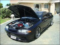 1993 Nissan Skyline, ma car wit bonnet up u can c turbo yea boii, exterior