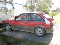 1986 Mazda 323, Currently has 15 inch advantis not the bikies, exterior
