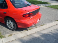 1996 Pontiac Sunfire 4 Dr SE Sedan, flame exhaust, exterior