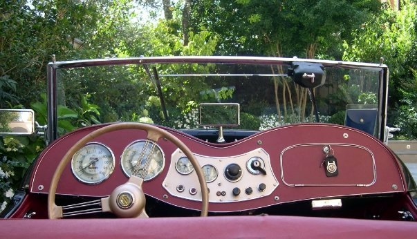 1950 MG TD picture, interior