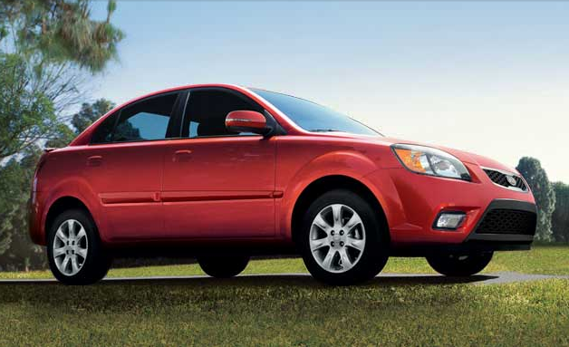 2011 Kia Rio, front three quarter view , exterior, manufacturer