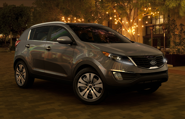 2011 Kia Sportage, front three quarter view , exterior, manufacturer