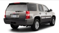 2011 GMC Yukon Hybrid, back three quarter view , exterior, manufacturer