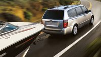 2011 Kia Sedona, back three quarter view , exterior, manufacturer