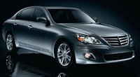 2011 Hyundai Genesis, front three quarter view , exterior, manufacturer
