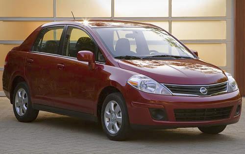 2011 Nissan Versa, Front Right Quarter View, exterior, manufacturer
