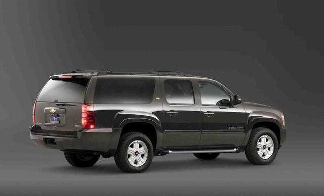 2011 Chevrolet Suburban, Back Right Quarter View, exterior, manufacturer