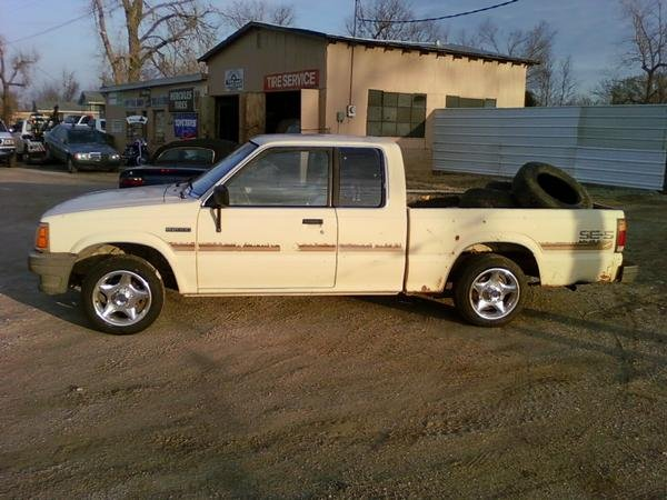1987 Mazda B2000, This is my new project. Funtastic. Like the new shoes?, exterior