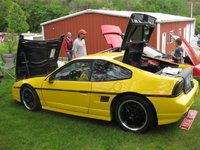"1987 Pontiac Fiero GT, 87' Gt w/ Cadillac 4.9 V8, Coilover rear shocks, Dodge Viper Yellow Paint, Mr. Mikes Leather Seats, and Motegi 17"" Rims, exterior, gallery_worthy"